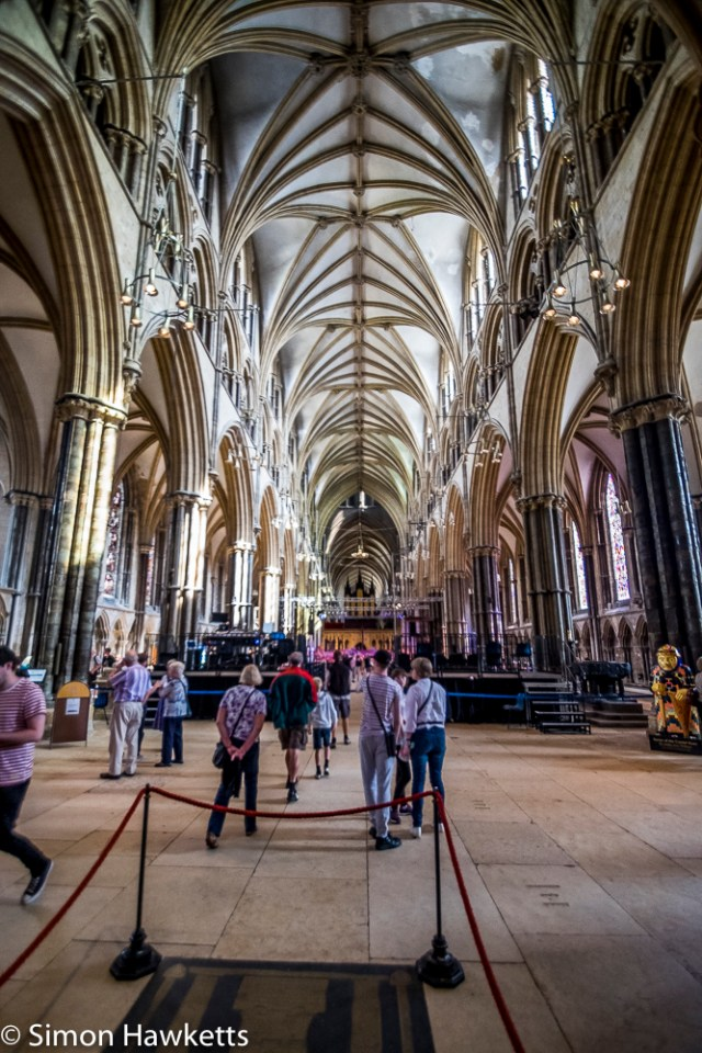 Lincoln city pictures with fuji x-t1 - Lincoln cathedral interior
