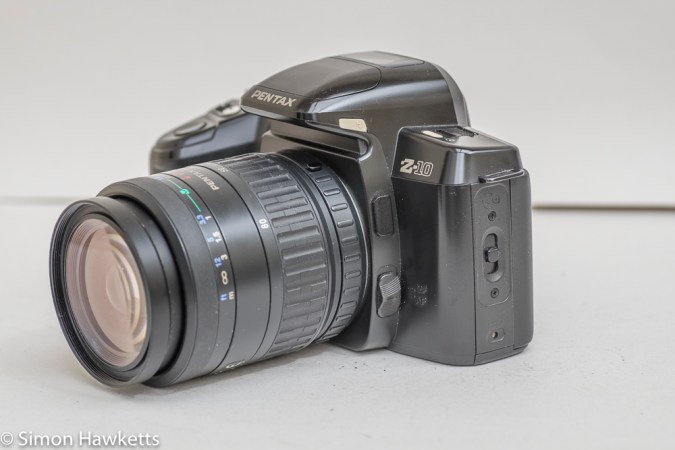 Pentax Z-10 35mm autofocus slr camera side view