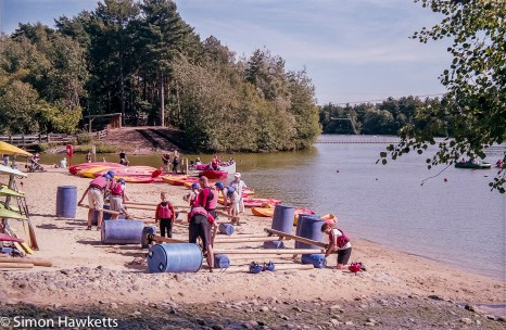 Elveden Forest Centerparcs on film - building a raft