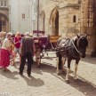 Lincoln city on film - Horse and cart rides from the cathedral