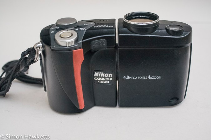 Nikon Coolpix 4500 digital camera - front of camera with lens up