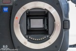 Olympus evolt E500 dslr - lens removed showing mirror