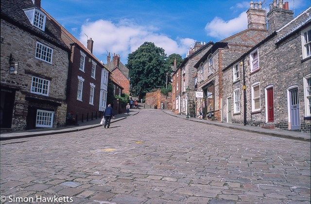 Precisa ct-100 colour  slide film pictures - Steep hill in Lincoln
