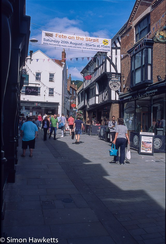 Precisa ct-100 colour  slide film pictures - Street in Lincoln