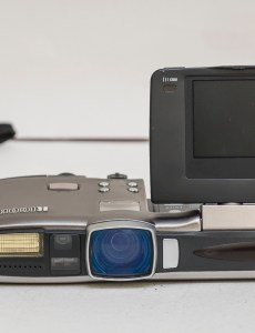 Ricoh RDC-7 front view with LCD reversed