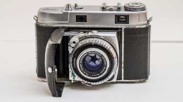 Kodak Retina IIc camera - front of camera showing lens