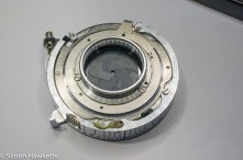 Kodak Retina IIc compur synchro shutter stip down - compur synchro shutter turned over to remove the aperture actuator