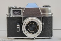 Kodak Retina Reflex III 35mm slr camera - front view with lens removed