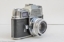 Kodak Retina Reflex III 35mm slr camera - side view showing shutter release