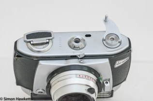 Balda Baldamatic I 35mm rangefinder camera - film rewind crank unlocked