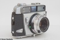 Balda Baldamatic I 35mm rangefinder camera - side view showing shutter release