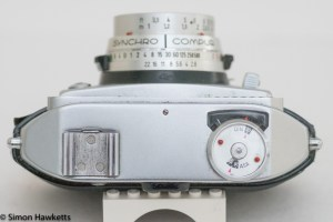 Balda Baldamatic I 35mm rangefinder camera - Top of the camera