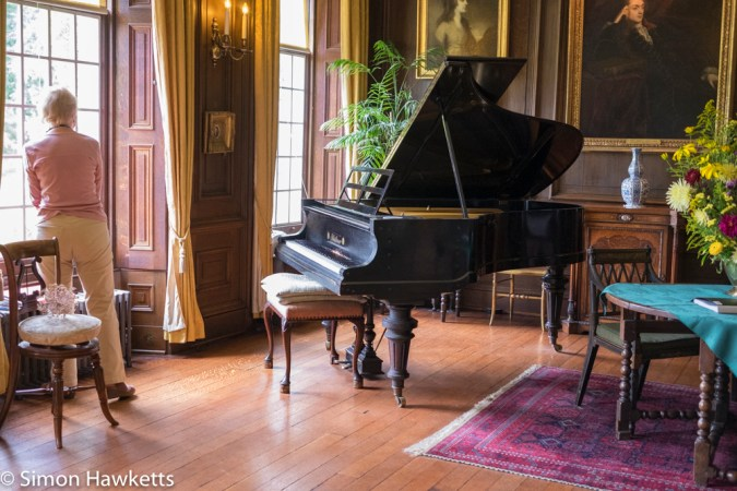 Gunby Hall holiday pictures with fuji x-t1 - The piano