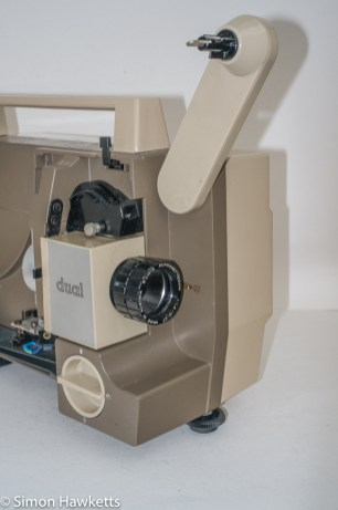 Eumig P8 Dual projector - front arm extended