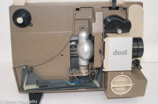 Eumig P8 Dual projector - Front cover removed