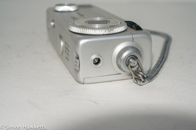 Minolta 16 MG miniature 16mm camera - flash connector and wrist strap