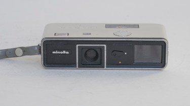 Minolta 16 Ps 16mm still camera - front view of camera