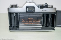 Miranda DX-3 35mm manual focus 35mm camera - film chamber with original shutter guard