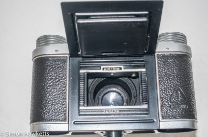 Altissa Altix IV 35mm viewfinder camera - film loading flap on back of camera