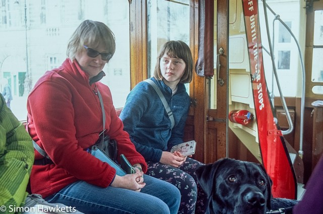 Pentax Z-1P & Agfa CT-100 slide film - Jan and Emma on the tram
