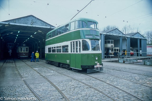Pentax Z-1P & Agfa CT-100 slide film - Tram for Aintree