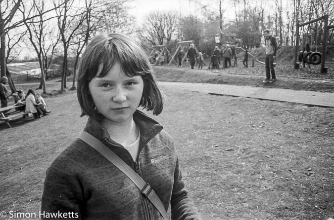 Young girl in the part at Crich Tramway Museum