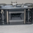 Voigtlander Vito 35mm folding camera - back of camera with door open and lens out