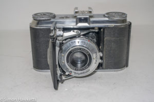 Voigtlander Vito 35mm folding camera - front view with lens extended