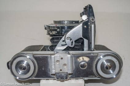 Voigtlander Vito 35mm folding camera - top view showing controls