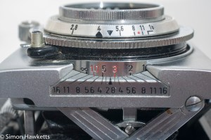 Agfa Karat IV 35mm rangefinder camera - focusing scale and depth of field guide