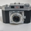 Agfa Karat IV 35mm rangefinder camera - front view with lens collapsed
