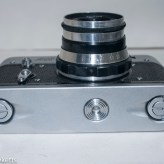 Fed 3 rangefinder camera - bottom of camera showing case locks