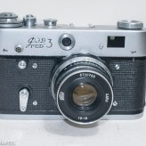 Fed 3 rangefinder camera - Front of camera with lens cap removed