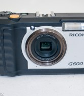 Ricoh G600 ruggedised compact camera - front view