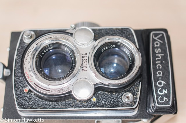 Yashica 635 front panel