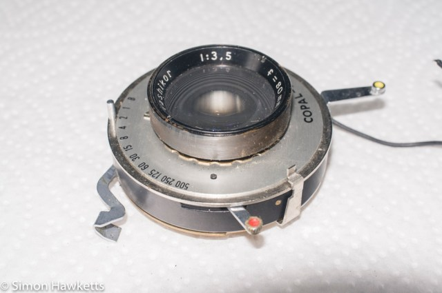 Yashica 635 - removing front element