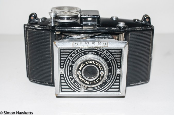 Agfa Karat 6.3 Art Deco - Front view with lens extended