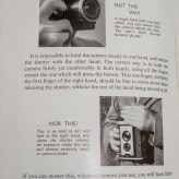Boy's book of Photography - How you mustn't hold the camera