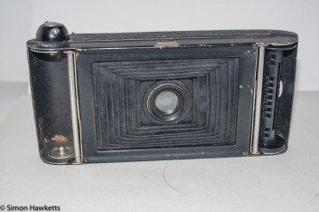 Butcher's Watch Pocket Carbine camera - film door open