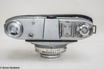 Kodak Retinette Type 22 35mm camera - Top View