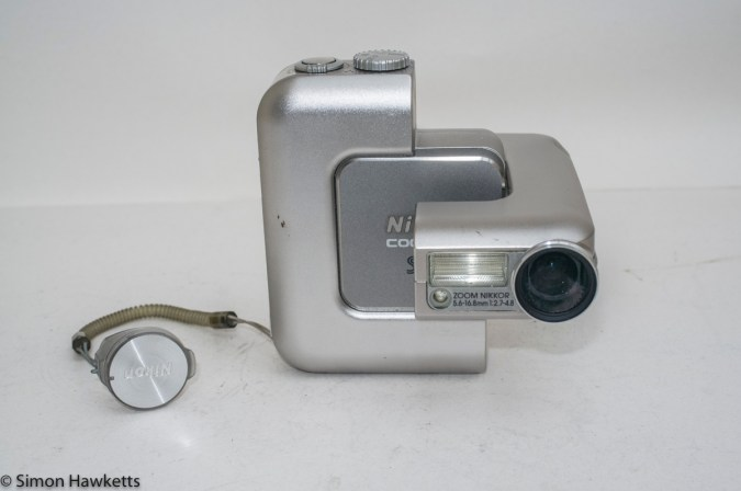 Nikon Coolpix SQ - Front of camera with lens opened
