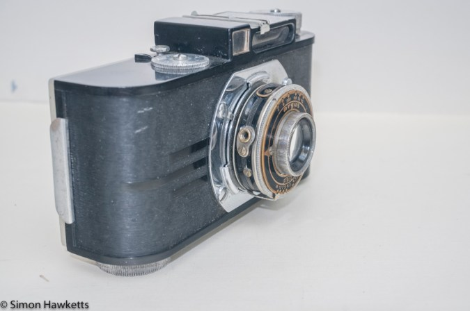 Argus A2F Viewfinder Camera - Side view showing cable release socket