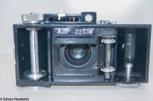 Argus A2F Viewfinder Camera - Rear cover removed