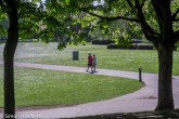 Kodak Retina Ysarex lens on Fuji X-T1 mirrorless - Couple in the park