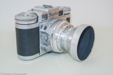 Braun Paxette viewfinder camera - Side view showing shutter release