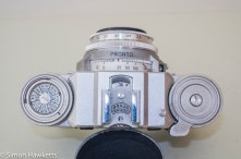 Braun Paxette viewfinder camera - Top of camera showing frame counter