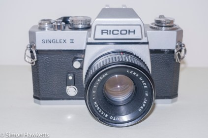 Ricoh Singlex II 35mm Camera - Front of camera with Rikenon 50mm f/2 lens