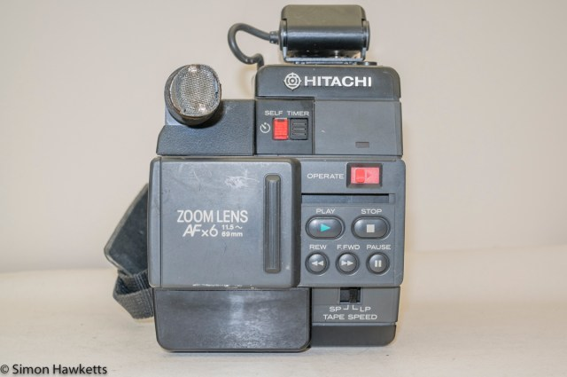 Hitachi VM-C30E VHS-C camcorder - lens cover set for playback