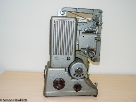Specto 500 8mm cine projector - Film arms closed to form carrying handle
