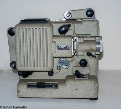 Eumig P8m 8mm Silent Projector - Projection arms folded